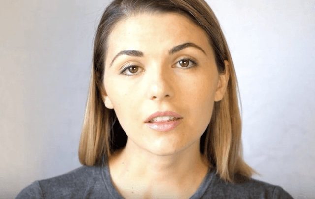 LonelyGirl15 during a video segment.