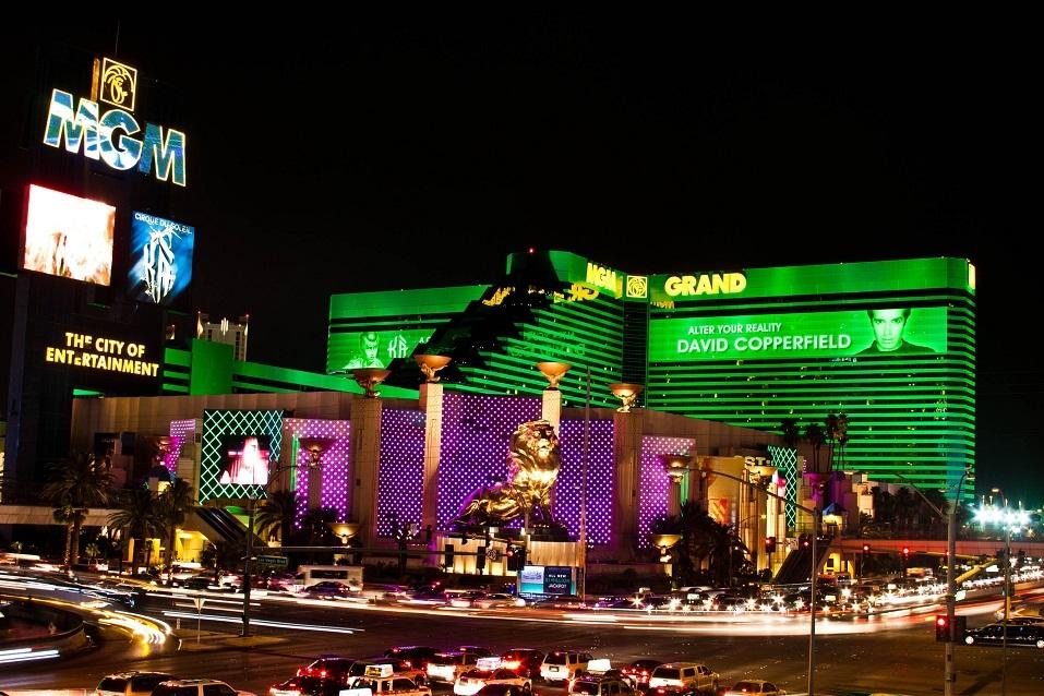 MGM Grand hotel & casino in Las Vegas at night