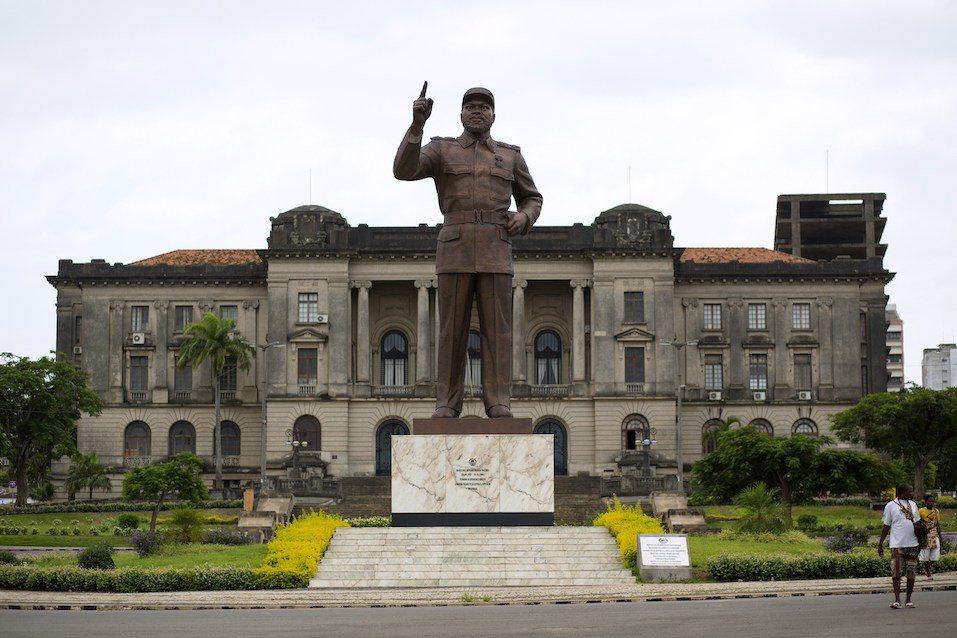 statue of Mozambique's first president Samora Moises Machel in Maputo