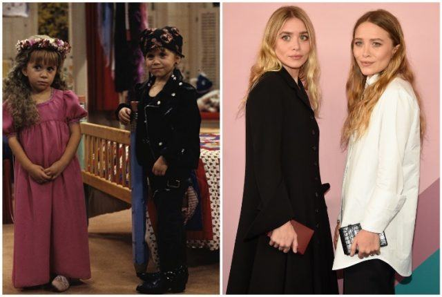 Mary-Kate and Ashley Olsen collage.