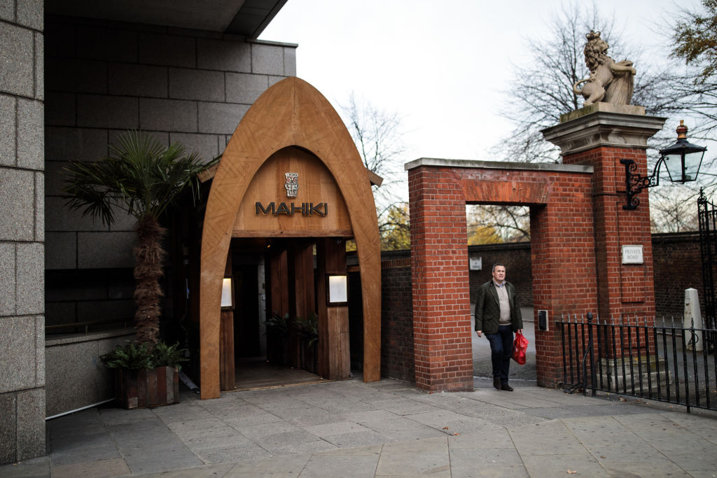 Mahiki bar and club in Kensington, London