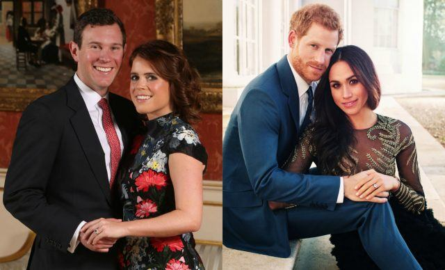 Meghan Markle and Princess Eugenie engagement pictures.