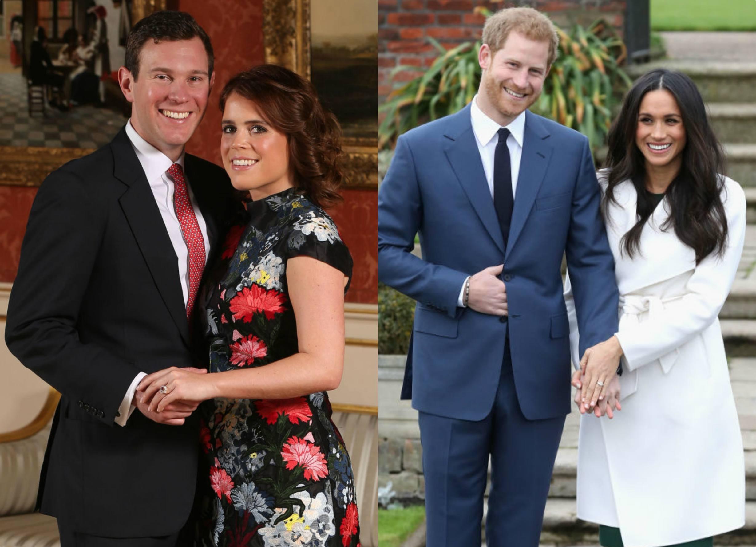 Meghan Markle Princess Eugenie Engagement dress