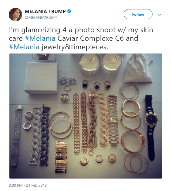 Melania Trump Jewelry