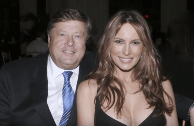 Melania Trump pictured with her father.