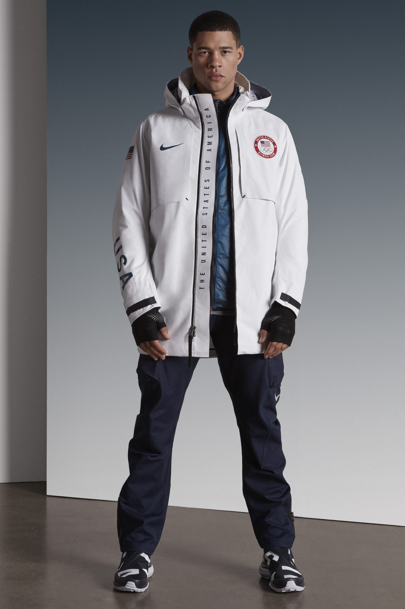 Men's Olympic medal stand outfit by Nike