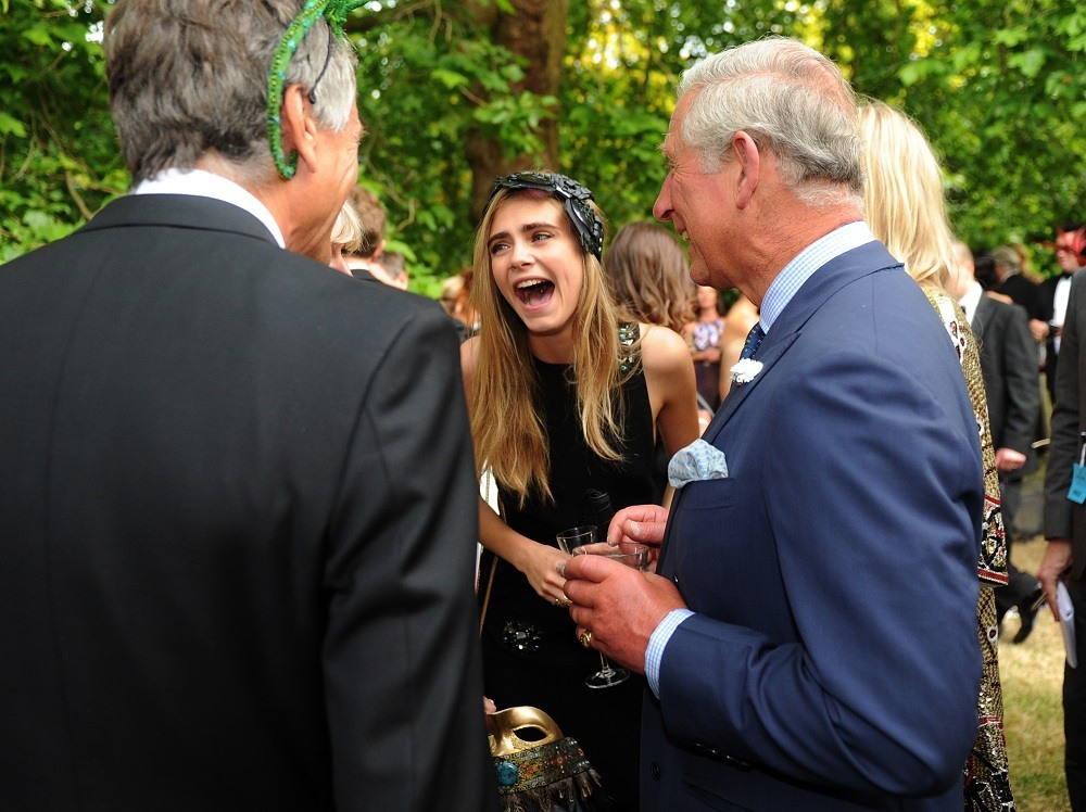 Model Cara Delevingne and family meet with Prince Charles