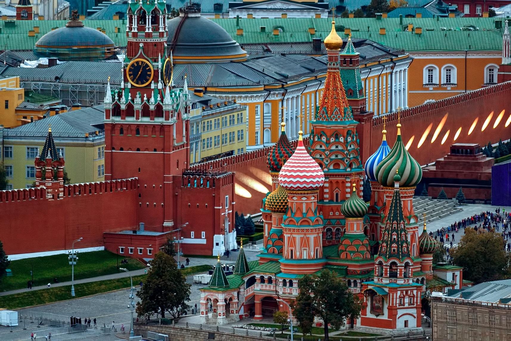 Landmarks of Moscow, Russia, Kremlin