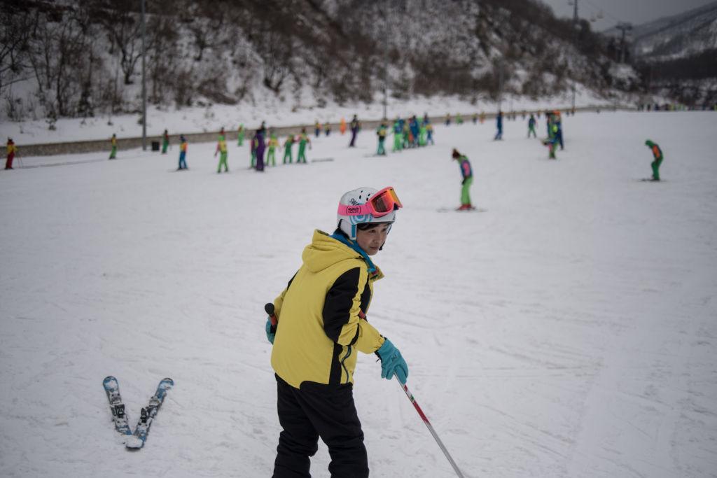 A skier at the Masikryong ski resort