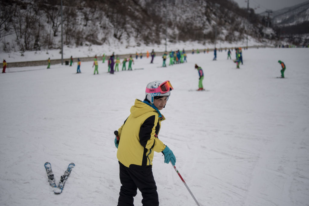 A skier at the Masikryong ski resort