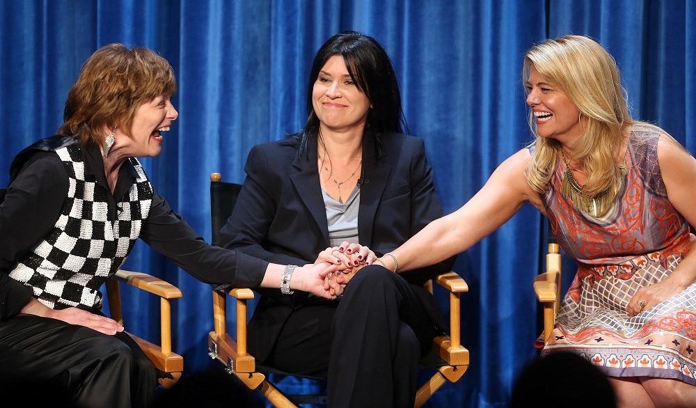 Actresses Geri Jewell, Nancy McKeon, and Lisa Whelchel