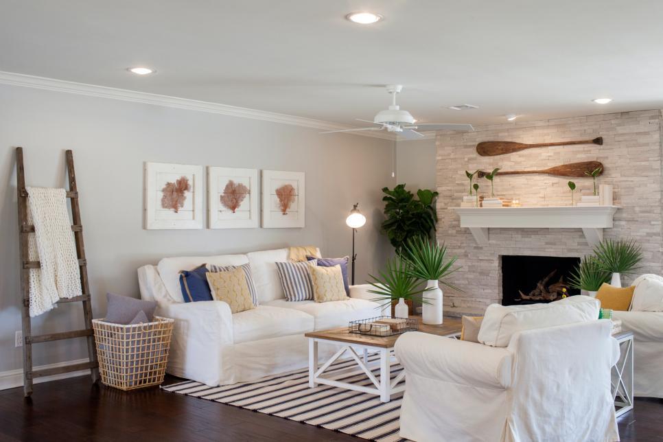 Nautical theme living room fixer upper