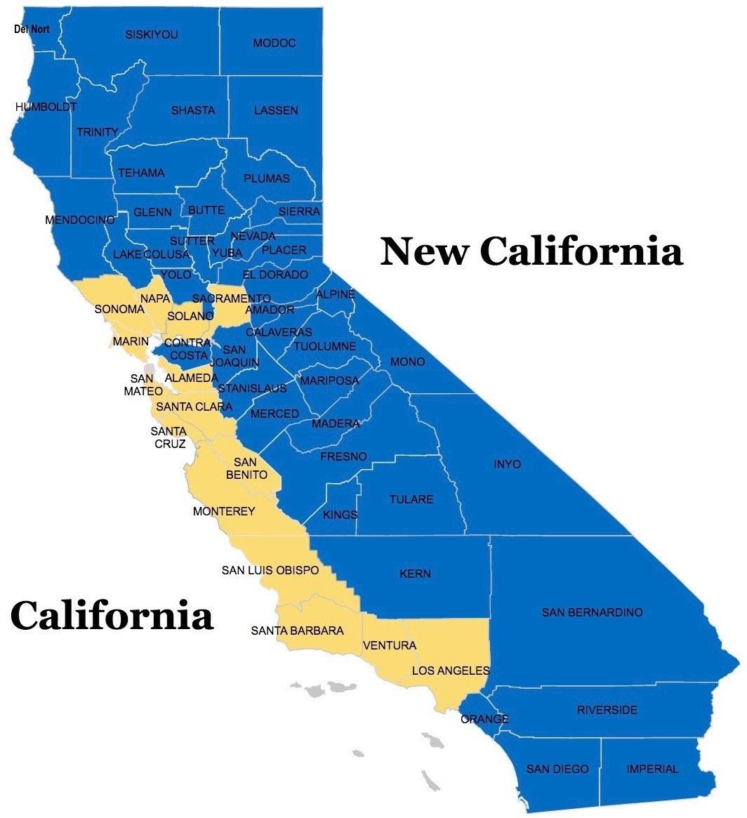 New California Map