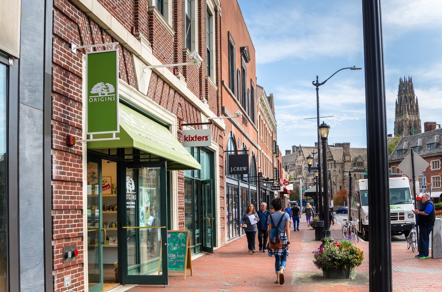 A street in New Haven, Connecticut.