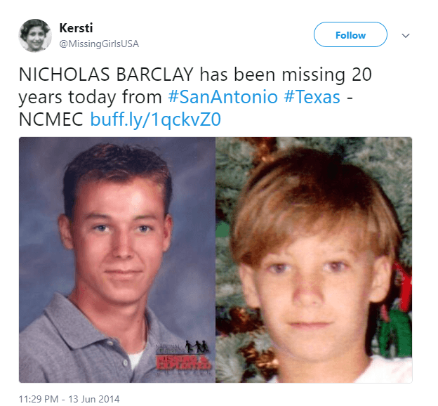Nicholas Barclay missing child