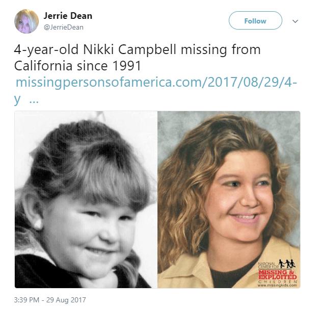 Nikki Campbell Missing child