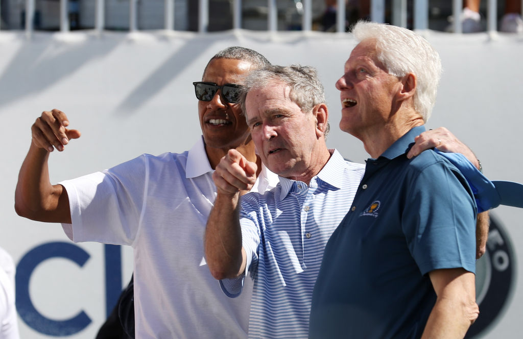 The Presidents Cup Golf Tournament with Obama, Bush and Clinton