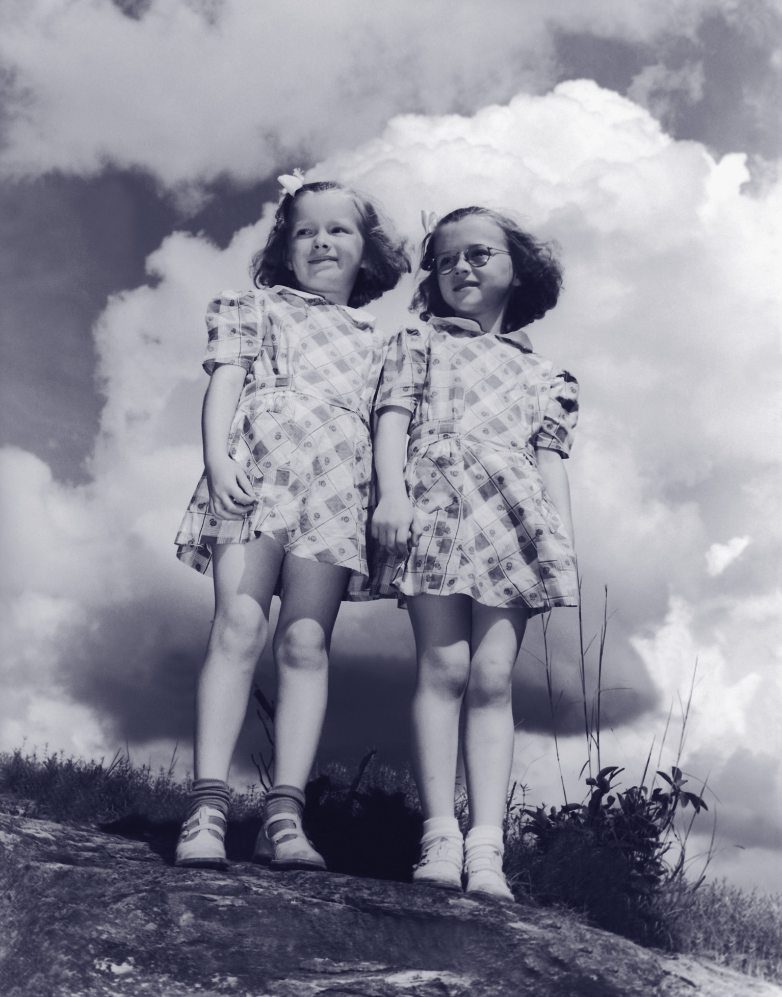 Old Photo of twin girls