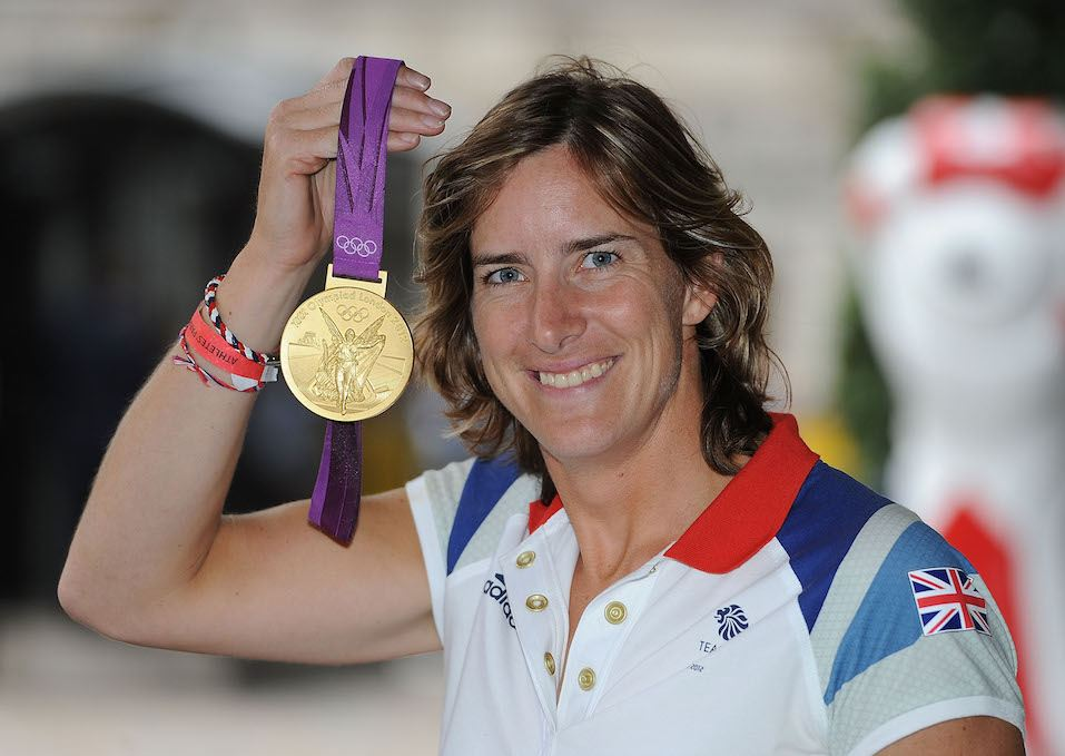British Olympic gold medal winning rower Katherine Grainger poses