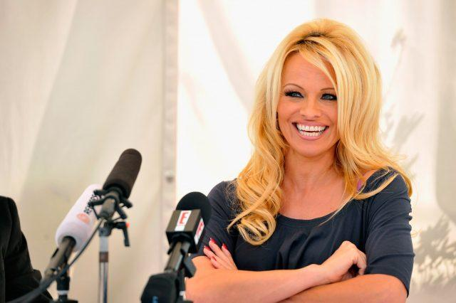 Pamela Anderson Press Conference For FrogAds