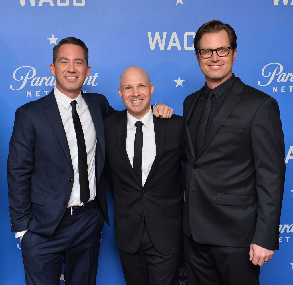 (L-R) Drew Dowdle, creator and exec. producer, Salvatore Stabile, exec producer and writer, and John Erick Dowdle, creator, director, and exec. producer