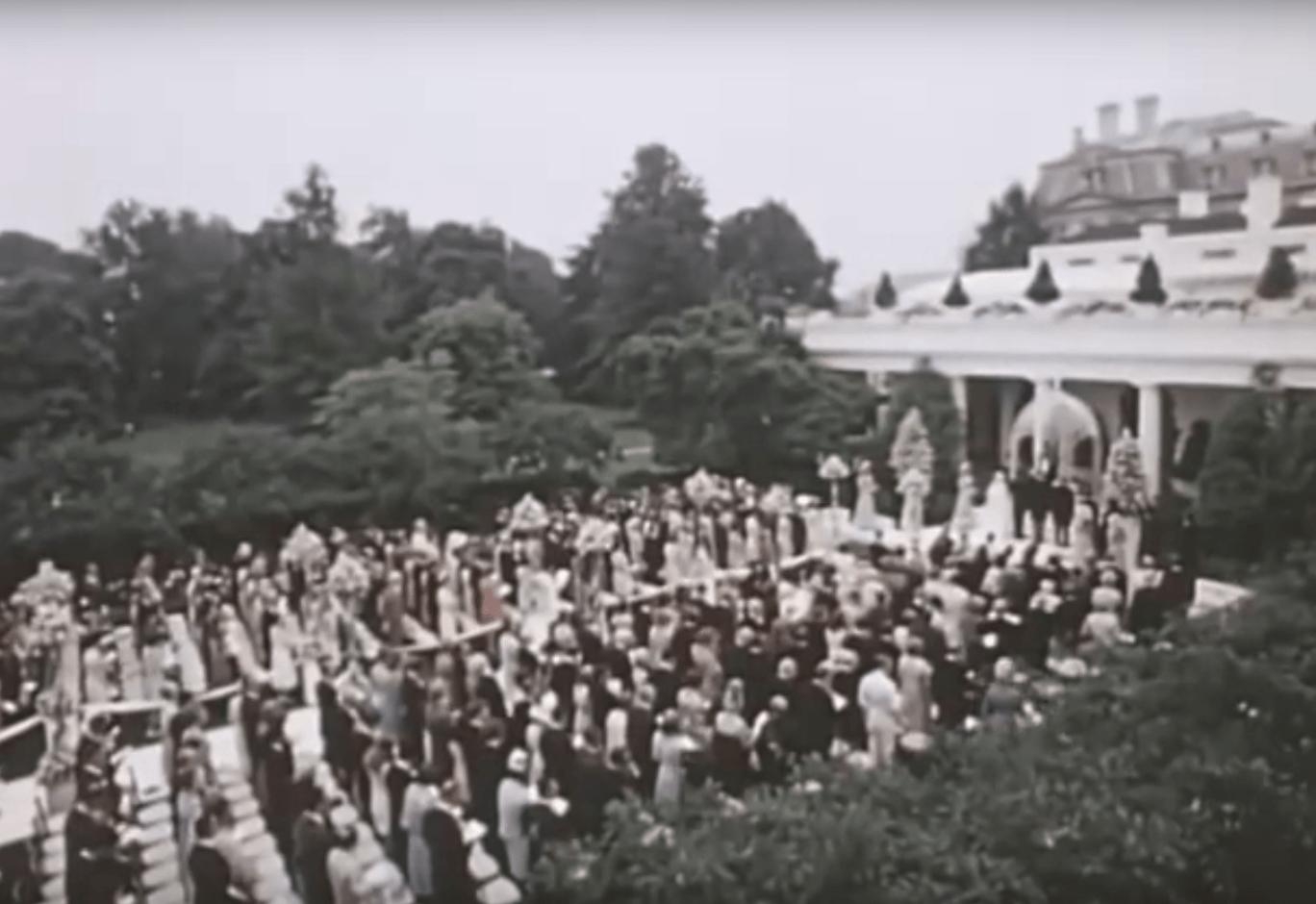 Patricia Nixon wedding rose garden
