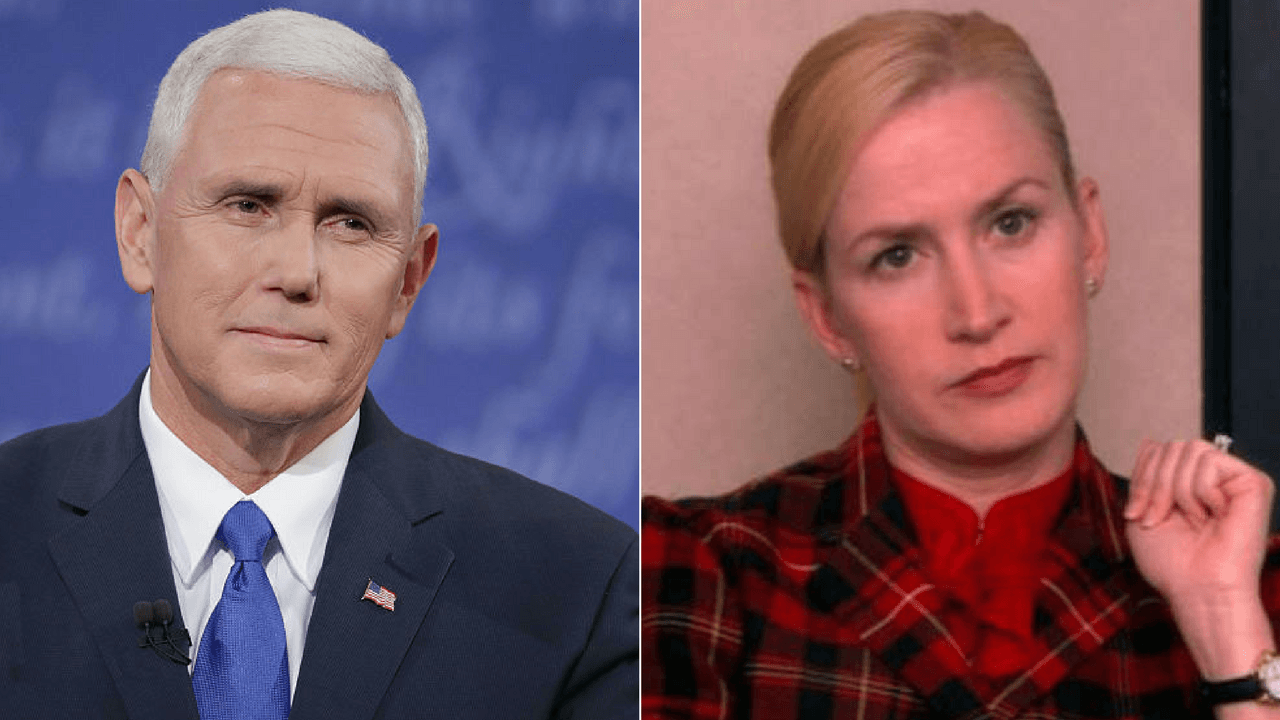 Mike Pence and Angela Martin from the Office