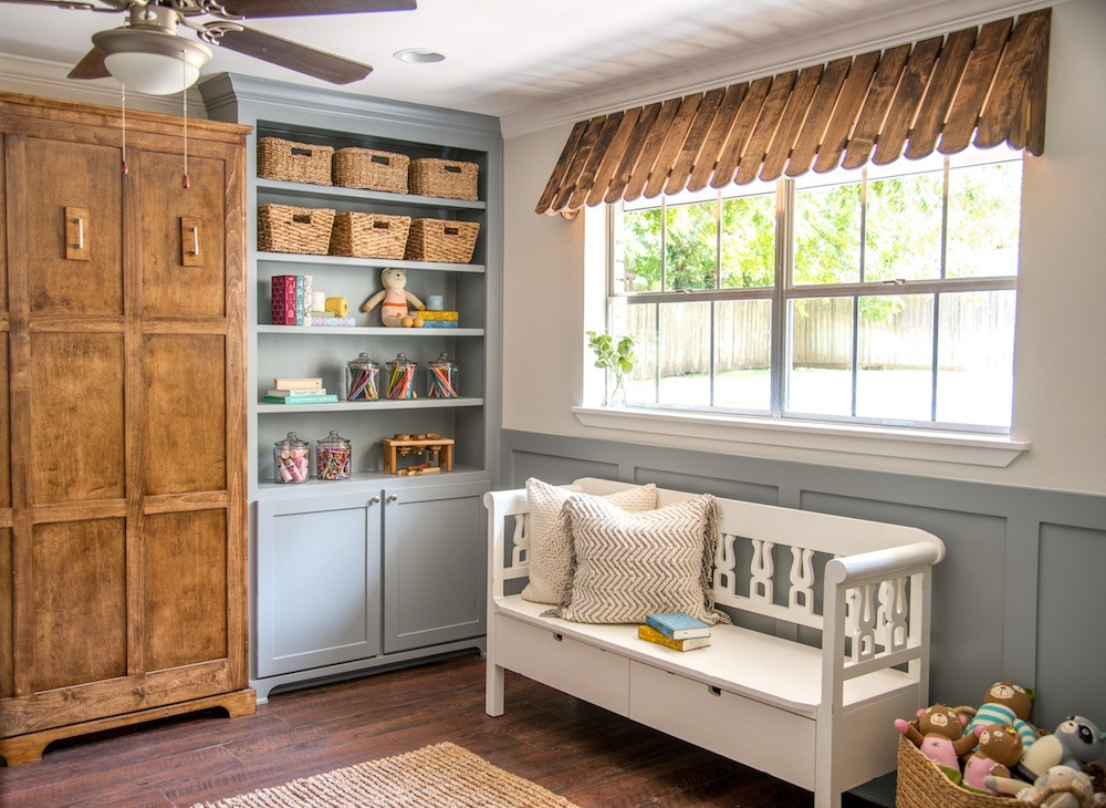 Fixer Upper Pocket Door Playroom