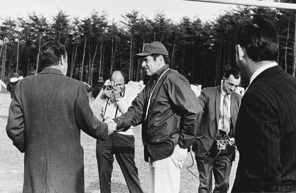President Richard M. Nixon Visits Washington Redskins - November 1971