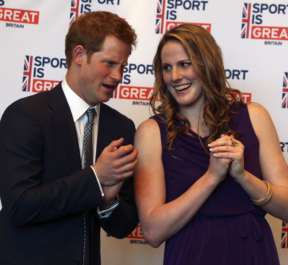 Prince Harry talks with Olympic gold medalist Missy Franklin