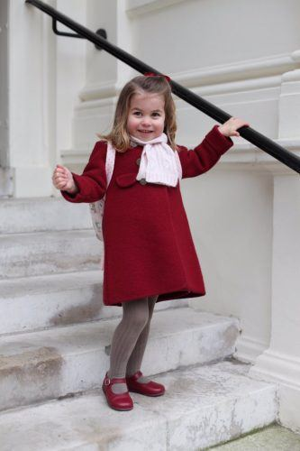 Princess Charlotte dressed for her first day of school.