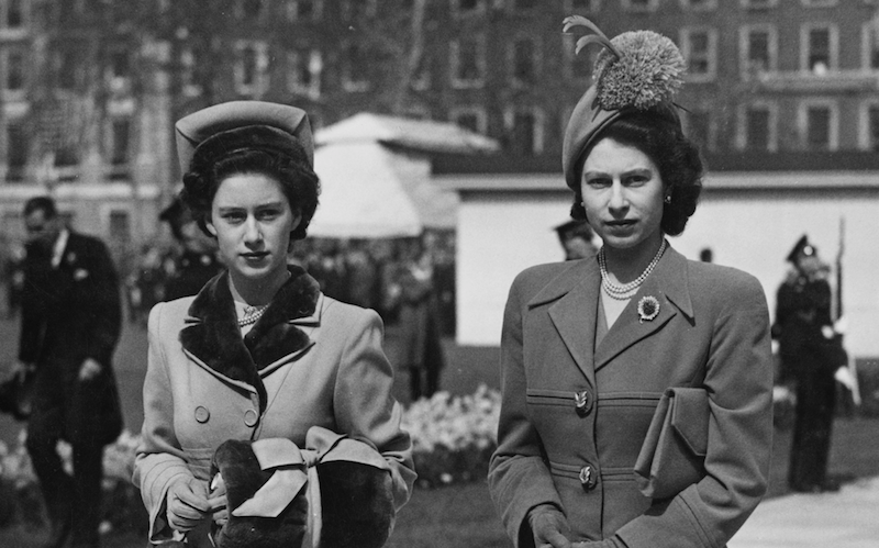 Princess Margaret and Queen Elizabeth