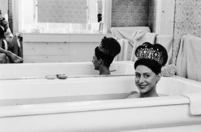 Princess Margaret in a tub