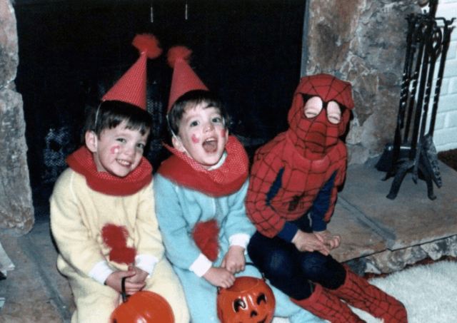 Drew and Jonathan Scott on Halloween.