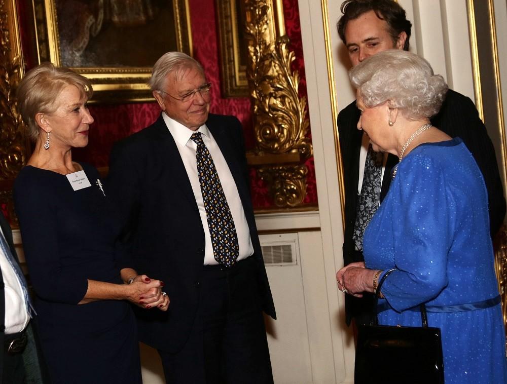 Queen Elizabeth II meets actress Dame Helen Mirren