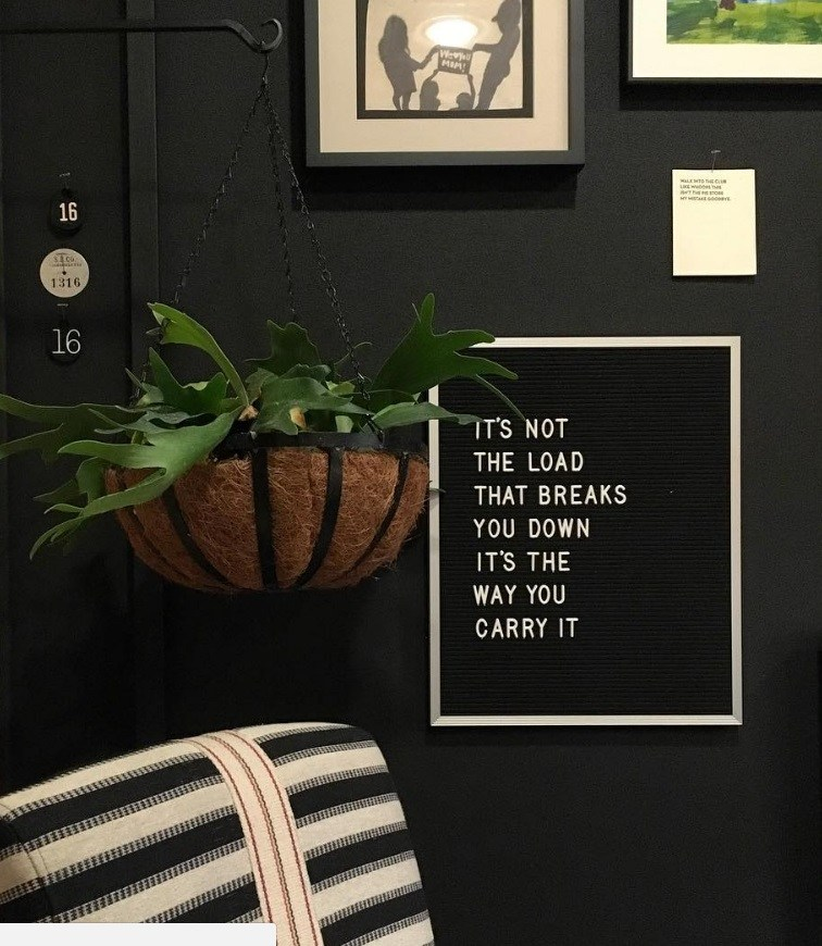 Quote wall art from Joanna Gaine's instagram fixer upper
