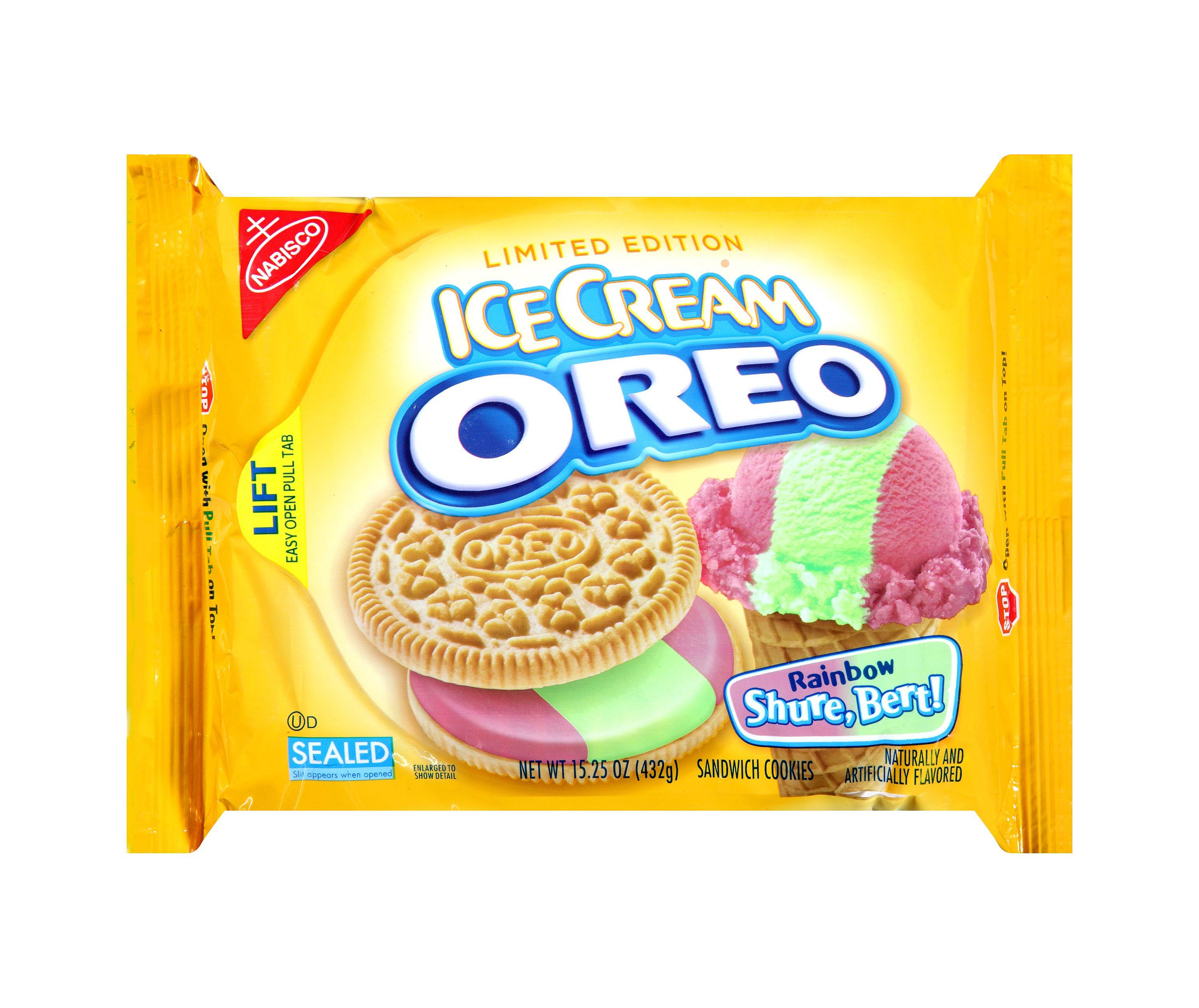 Rainbow shure bert ice cream oreo