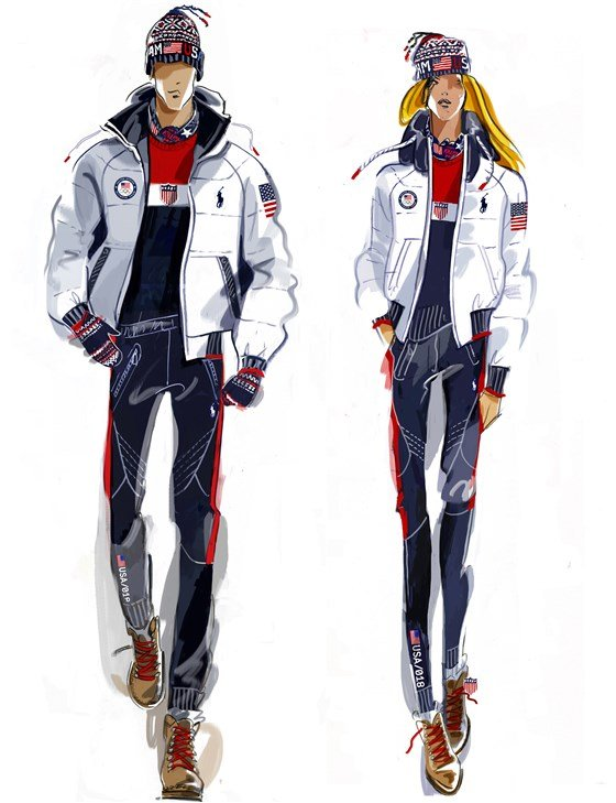 Ralph Lauren Olympic closing ceremony uniform