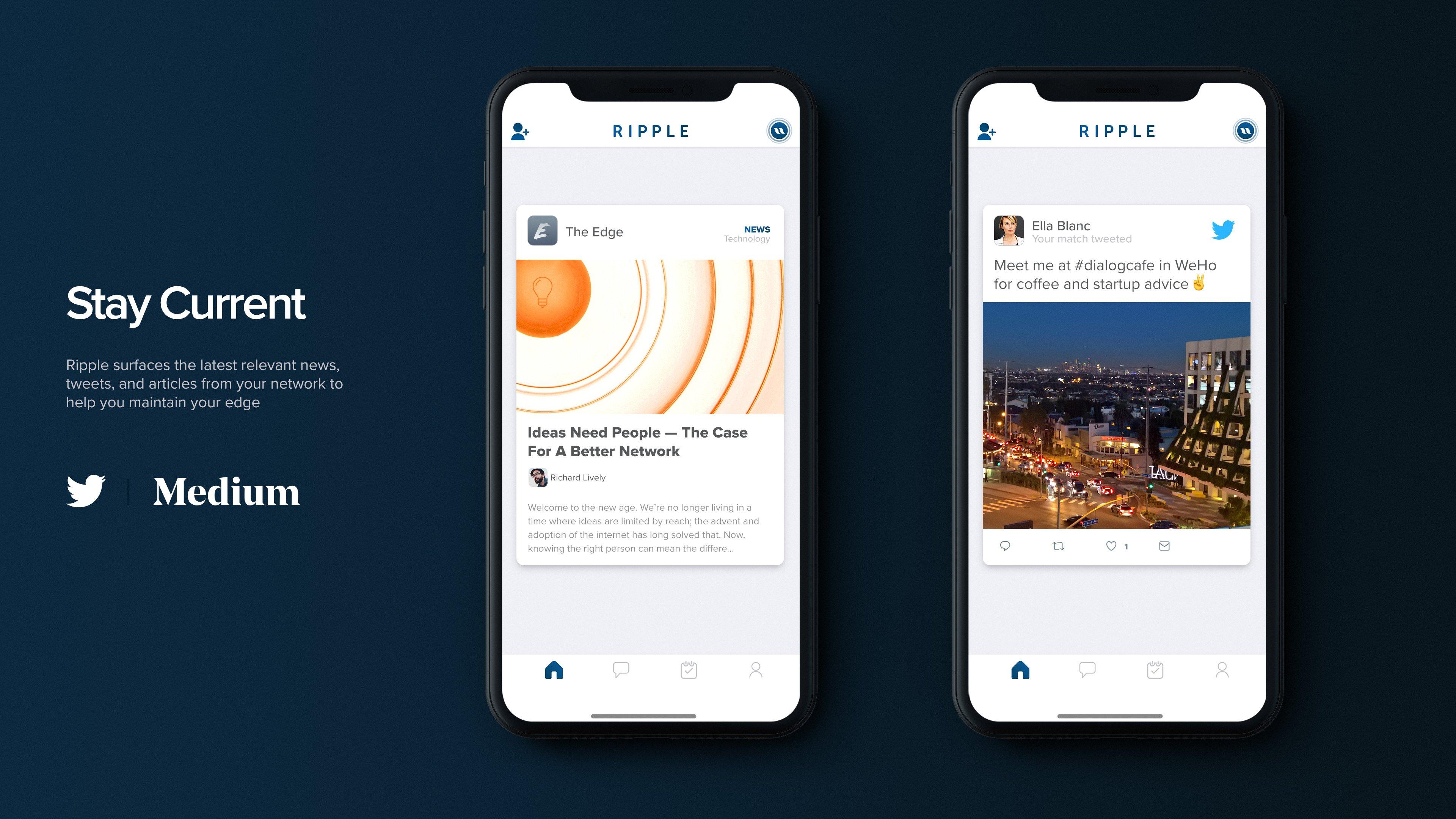 Ripple networking app News
