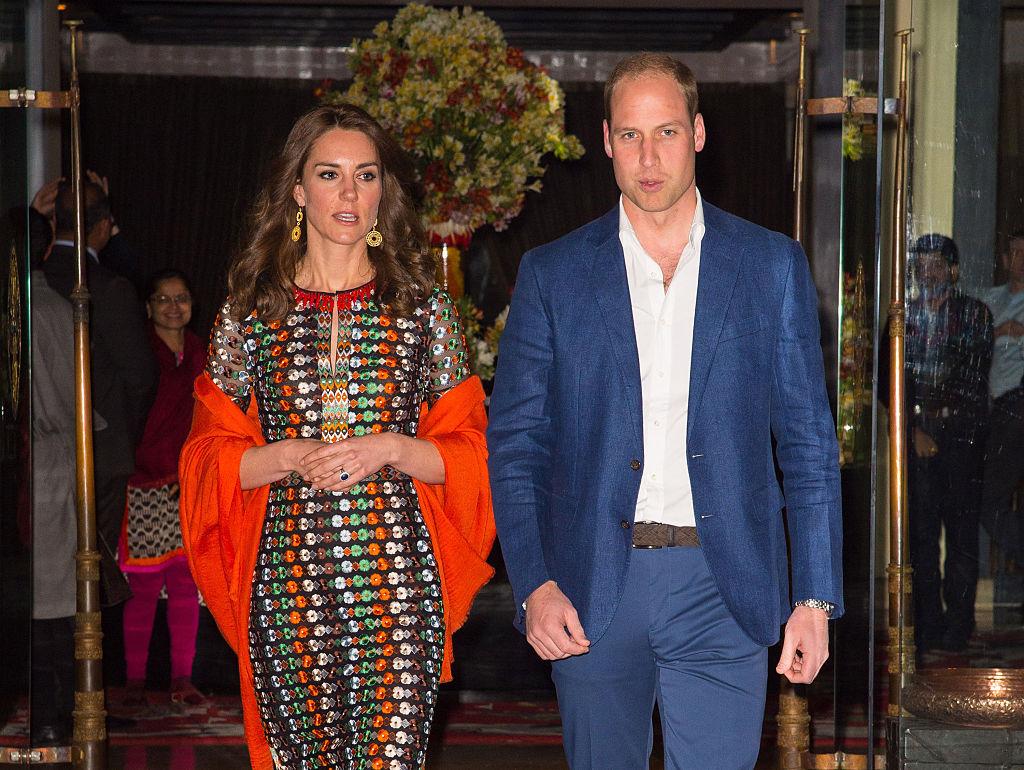 Prince William, Duke of Cambridge leave the Taj Tashi hotel