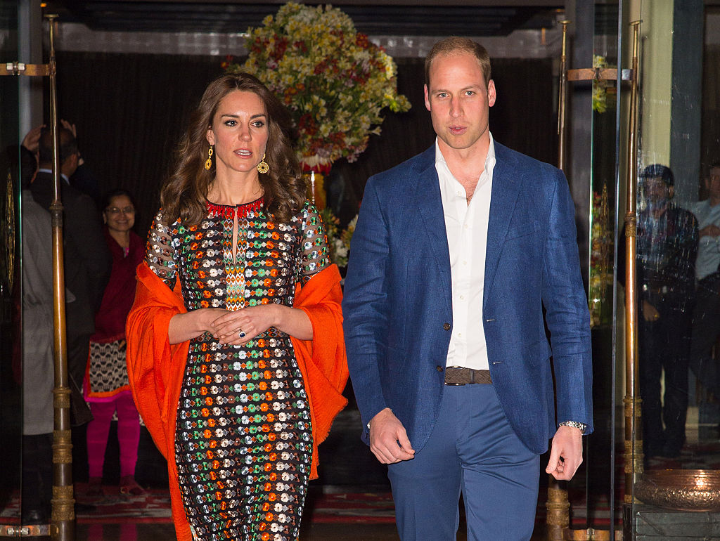 Prince William, Duke of Cambridge leave the Taj Tashi hotel