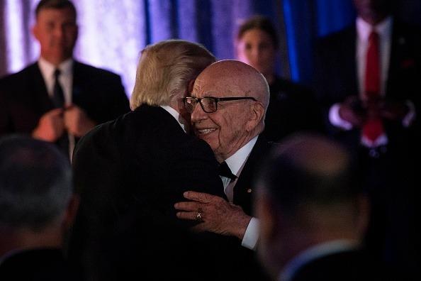 Rupert Murdoch and Donald Trump