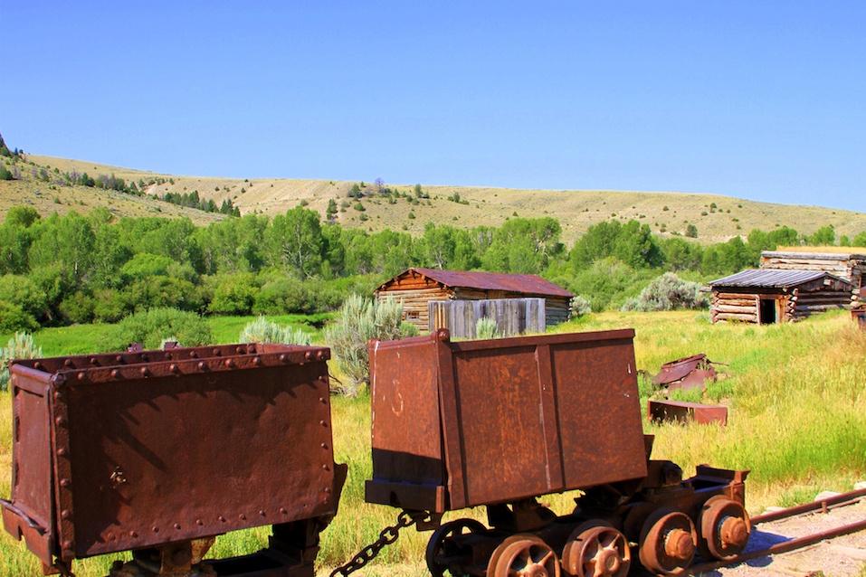 Rusty mining carts