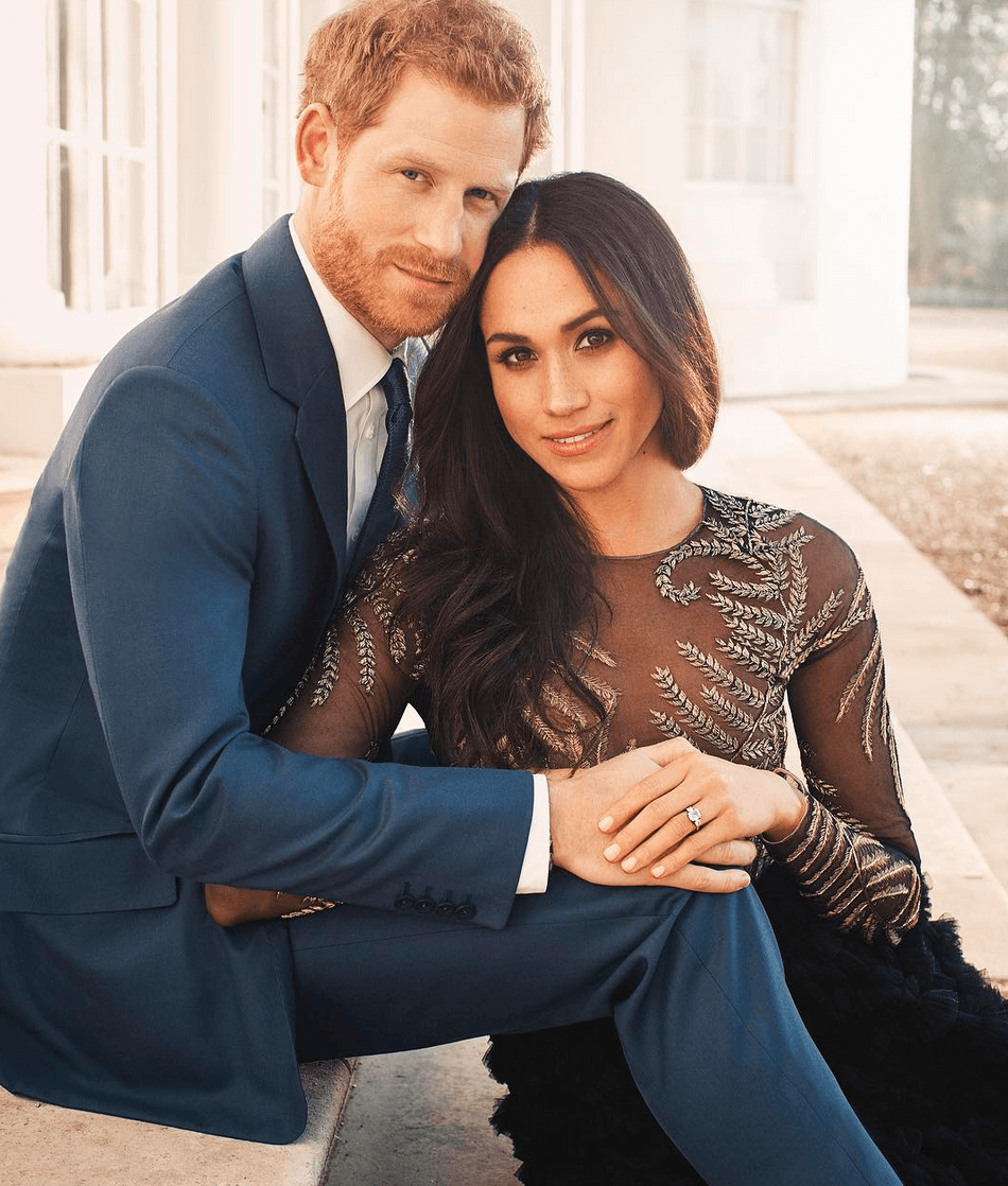 Prince Harry and Meghan Markle engagment photo