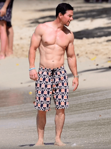 Mark Wahlberg at the beach.