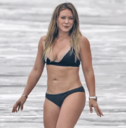 Hilary Duff at the beach.