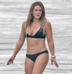 Hilary Duff at the beach.