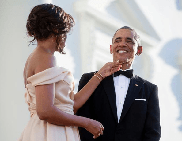 Michelle wishing Barack a happy birthday