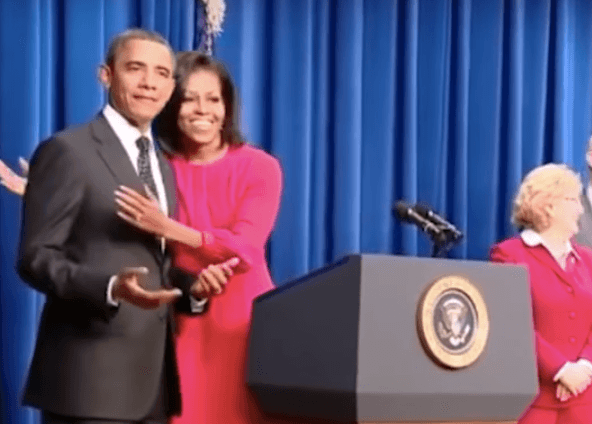 Michelle teasing Barack Obama