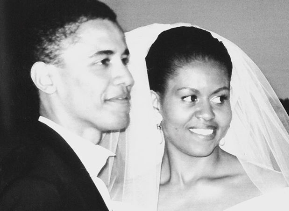 Michelle Obama's wedding throwback